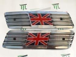 Lambretta gp side panel grill 2