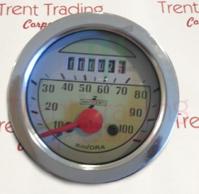 Lambretta LD speedometer round